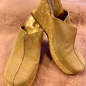 Cork Wedge clogs